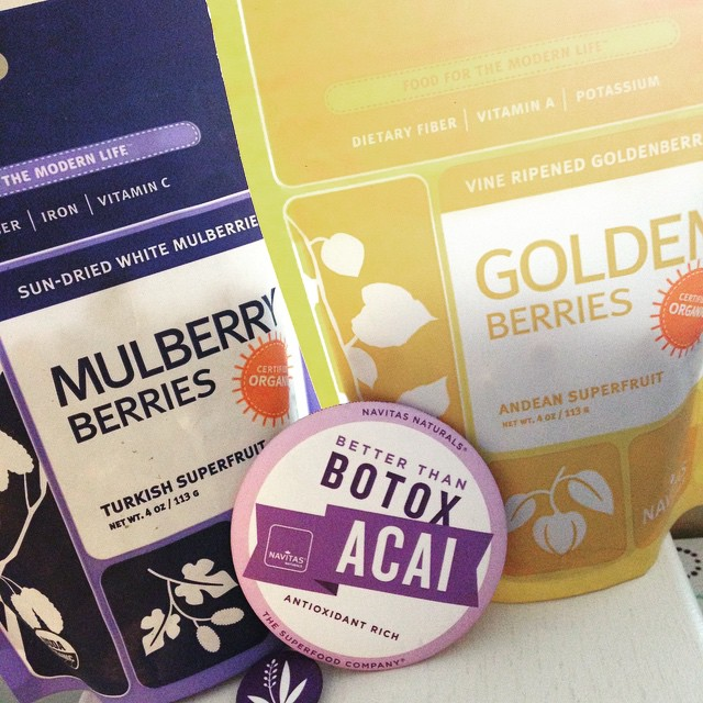 Navitas Naturals Mulberry Berries & Golden Berries from Healthy, Fit & Barefoot!