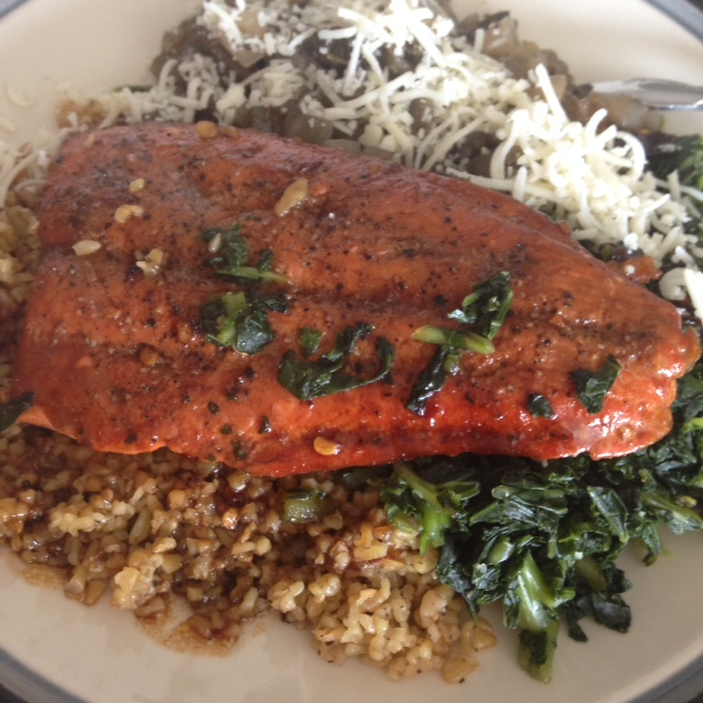 Balsamic Glazed Salmon with Freekeh | Healthy, Fit & Barefoot!