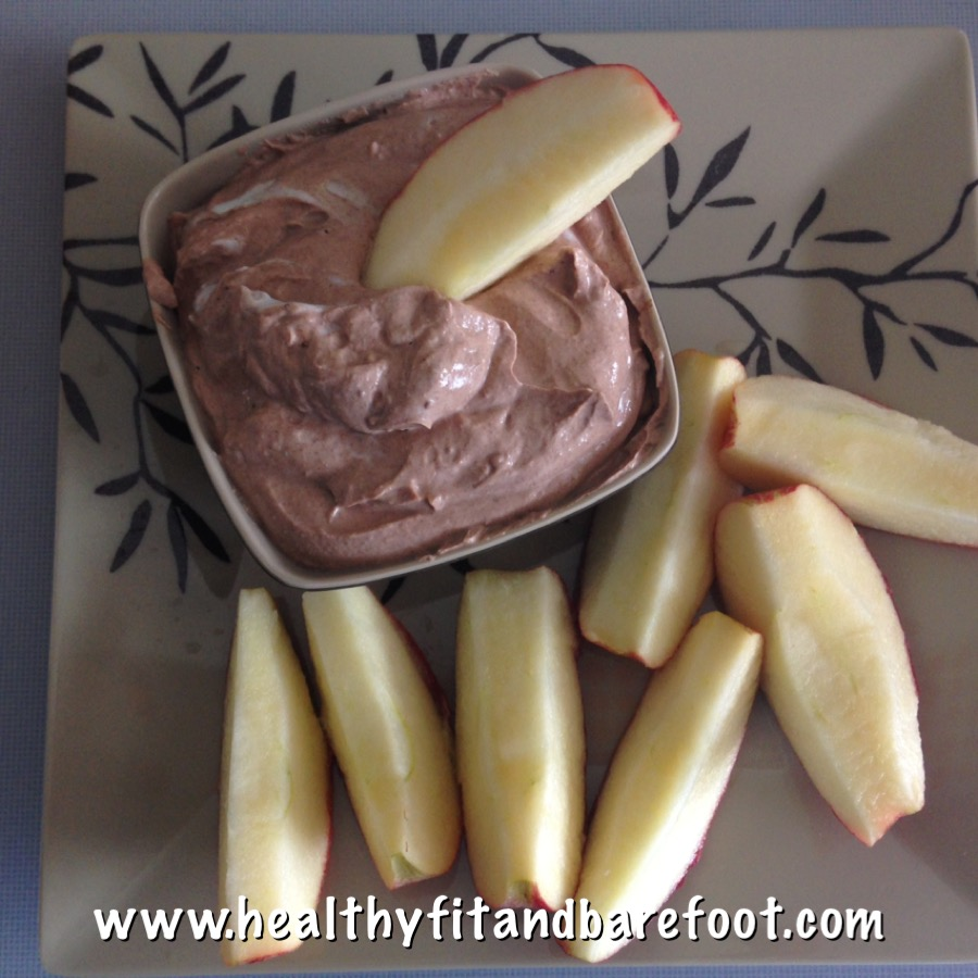 Chocolate Protein Fruit Dip | Healthy, Fit & Barefoot!