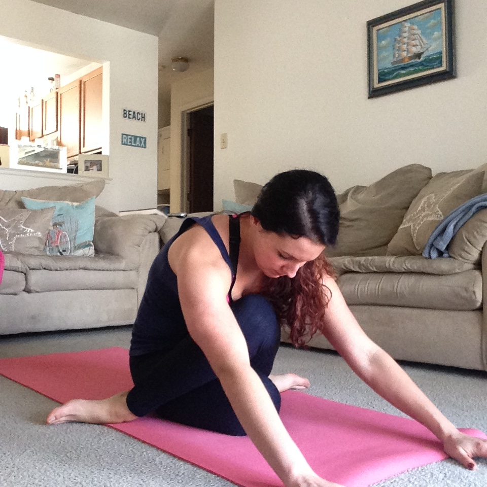 Cow Facing Pose Variation   Healthy, Fit & Barefoot!