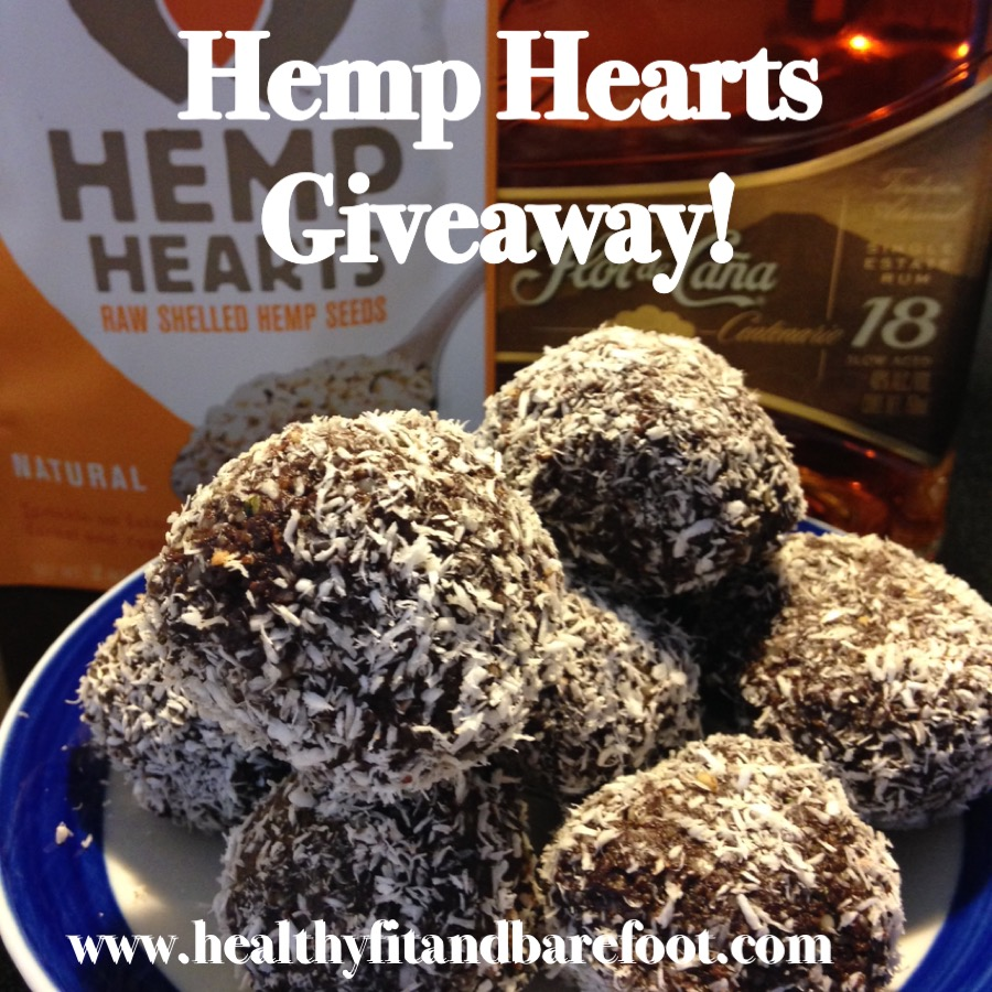 Hemp Hearts Giveaway & Grain-Free Chocolate Rum Balls Recipe | Healthy, Fit & Barefoot!