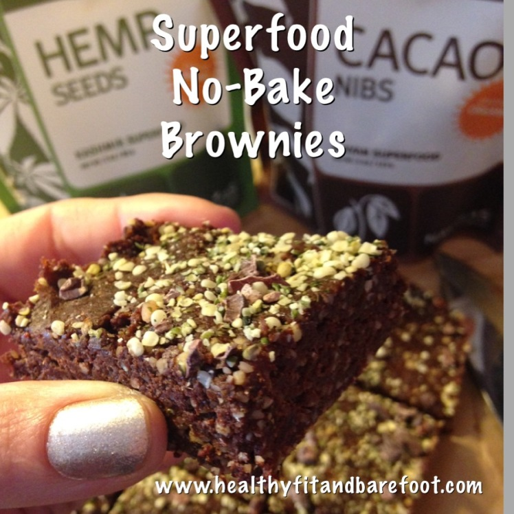 #FlavorfulFriday - Superfood No-Bake Brownies | Healthy, Fit & Barefoot!