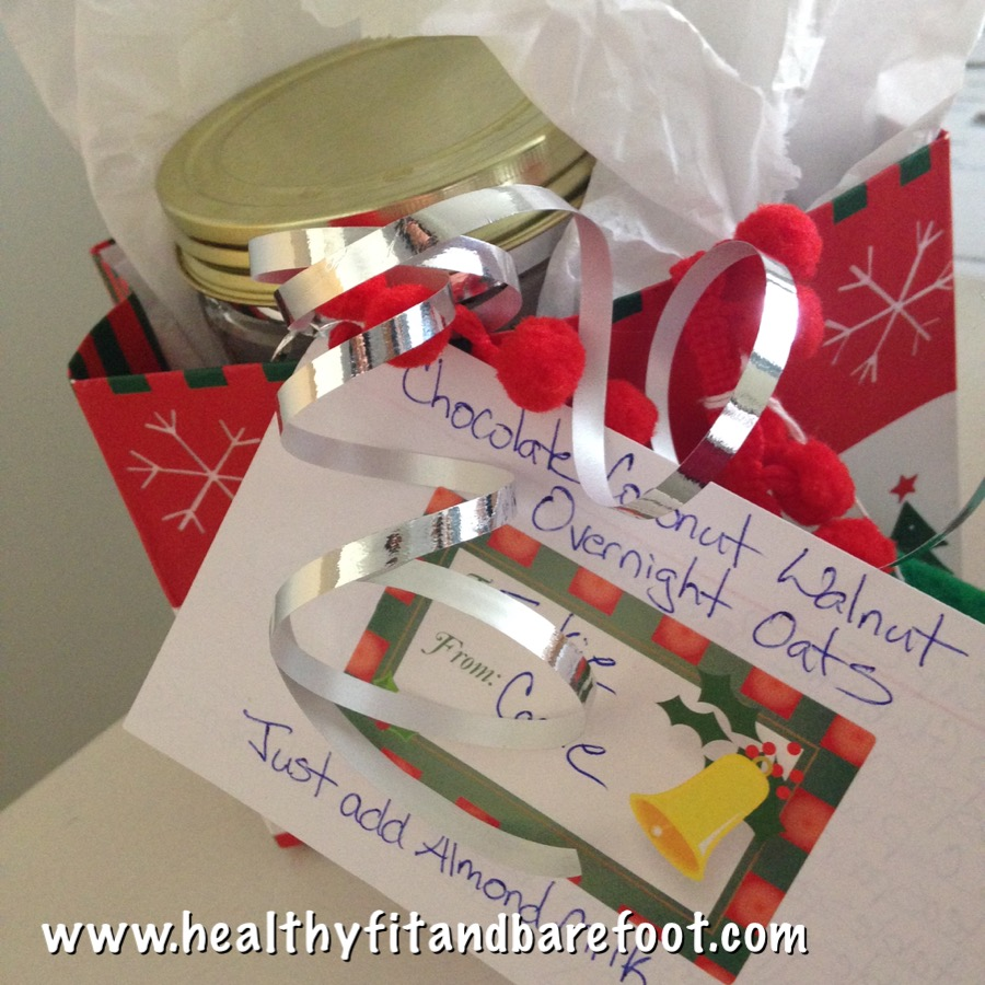 Gift Wrapped Overnight Oats | Healthy, Fit & Barefoot!