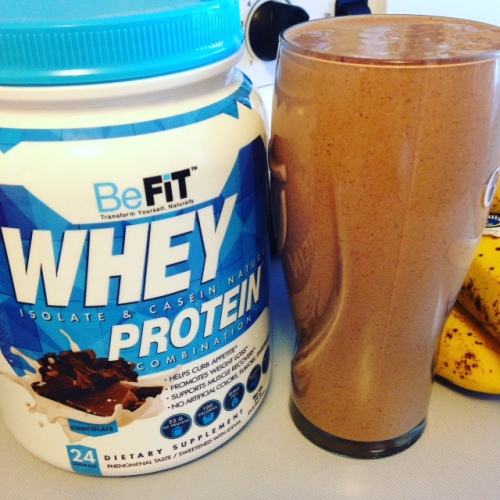 BeFit Chocolate Whey - Double Chocolate Oatmeal Breakfast Shake | Healthy, Fit & Barefoot!