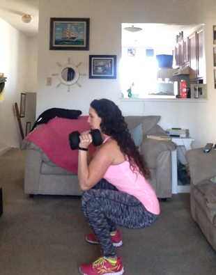 Squat with Overhead Press Tutorial   Healthy, Fit & Barefoot!