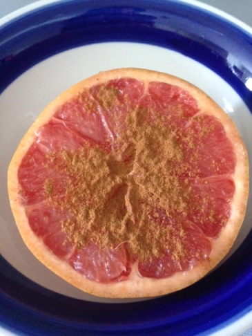 Half a grapefruit sprinkled with cinnamon | Healthy, Fit  Barefoot!