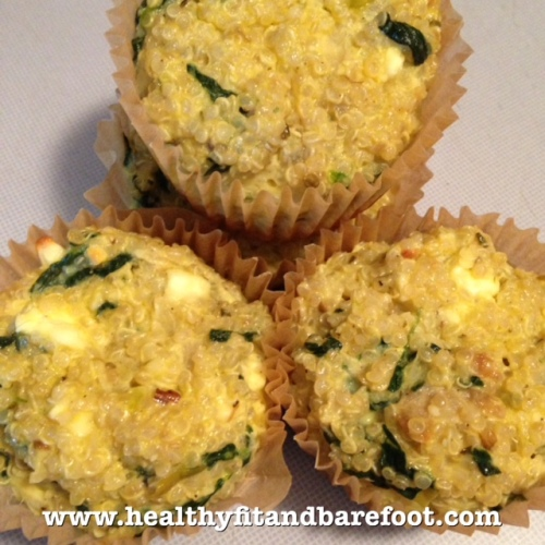 Spinach Feta Quinoa Egg Muffins | Healthy, Fit & Barefoot!