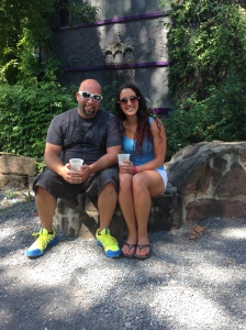 My husband and myself enjoying a day at the PA Ren Faire (enjoying a beer)