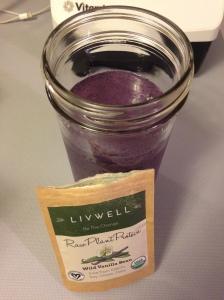 Blueberry Vanilla Protein Shake using LivWell Vanilla Bean Protein