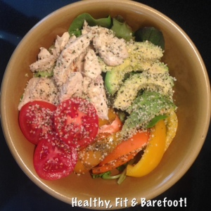 Grilled Chicken Salad | Healthy, Fit & Barefoot!